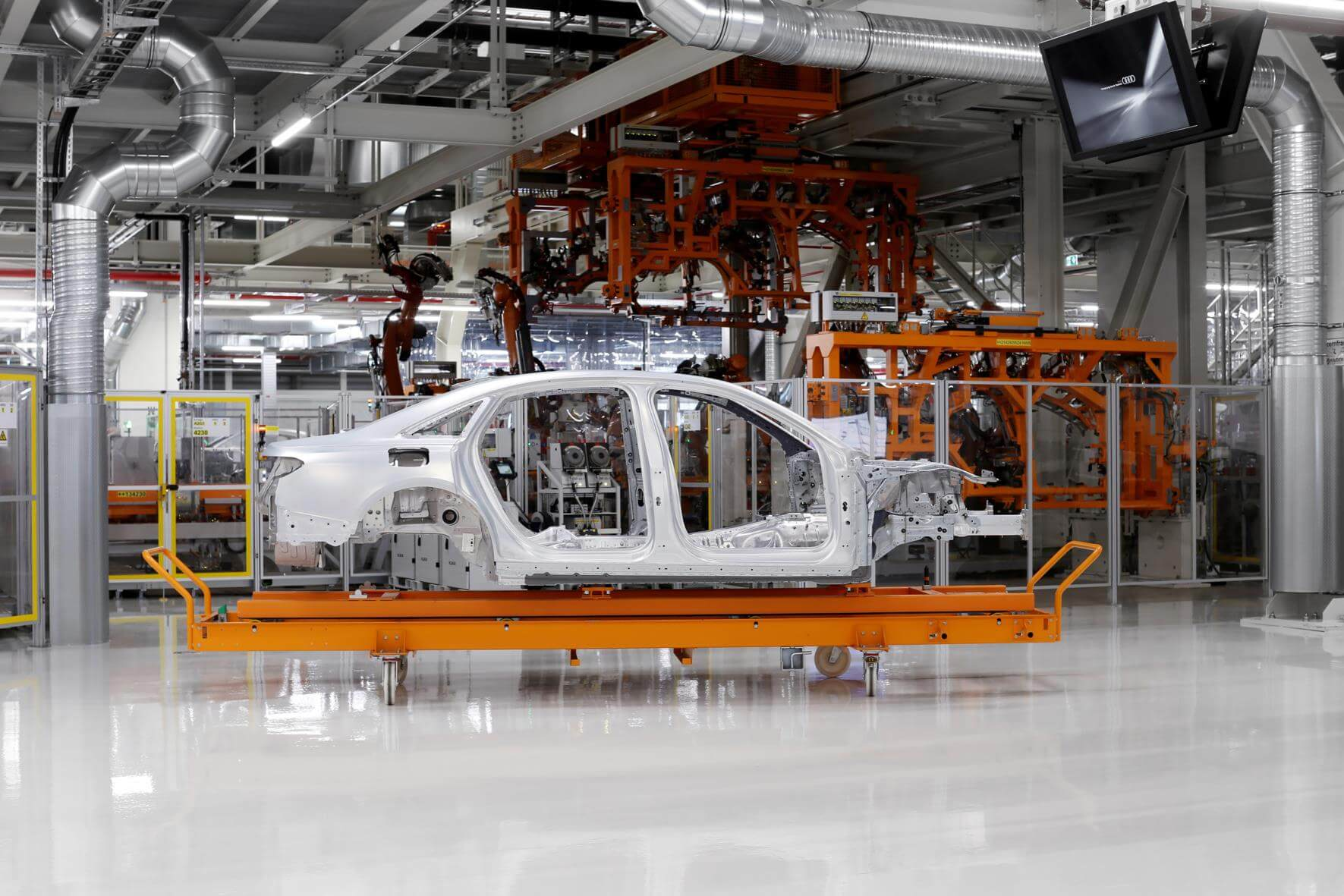 The Audi Space Frame on the New A8 - Yorkshire Fleet