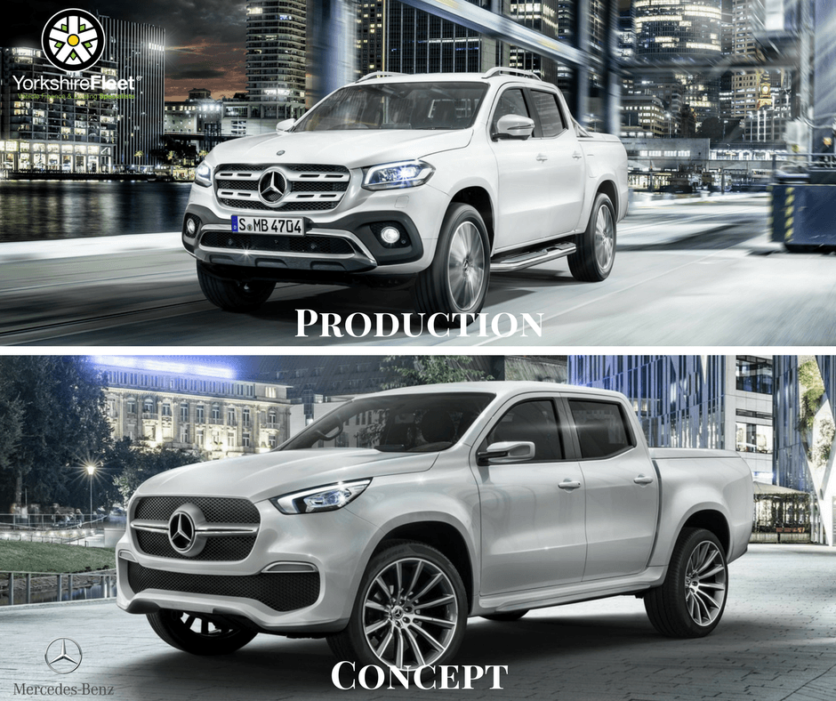 Mercedes-Benz X Class Pickup - Concept Car vs Reality - Yorkshire Fleet