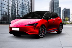 Possible insight into what the new Tesla will look like in the artist rendering. (Image insideevs.com)